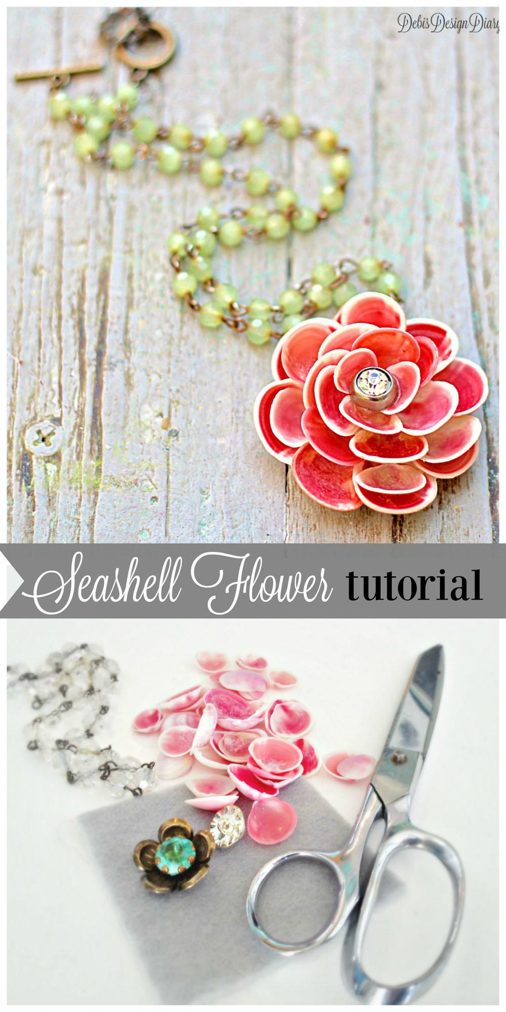 5 Seashell Flower Necklace