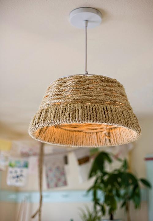 5 Woven Rope Pendant Lamp