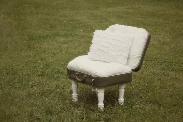 5 vintage suitcase chair