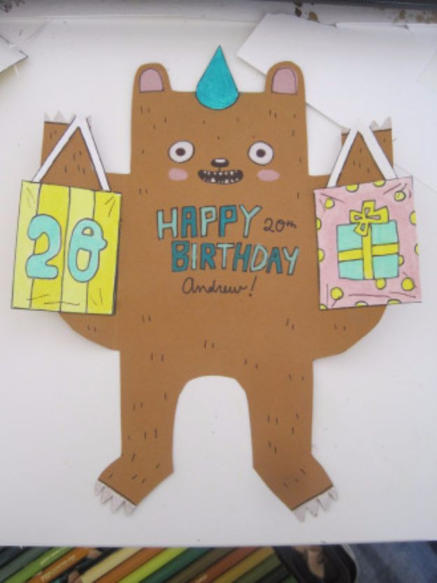 51 DIY Birthday Bear Card