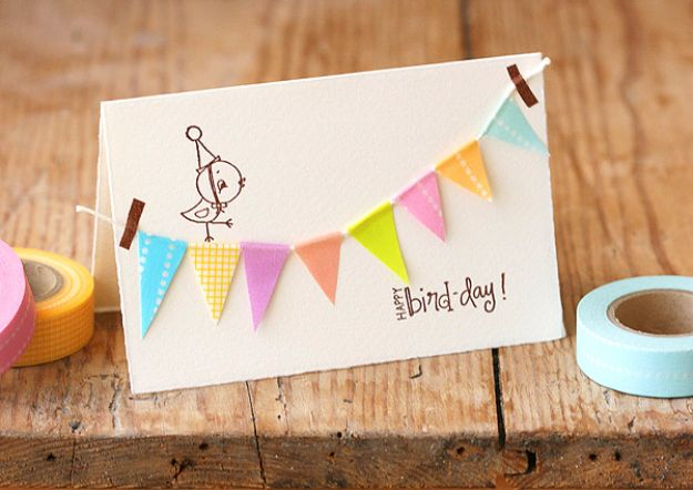 52 Birthday Bunting Card