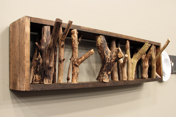 52 Large Tree branch coat rack