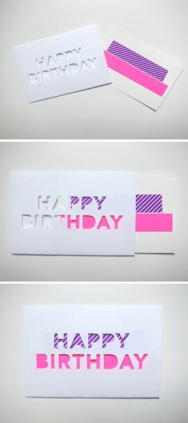 56 DIY Washi Tape Aperture Greeting Card