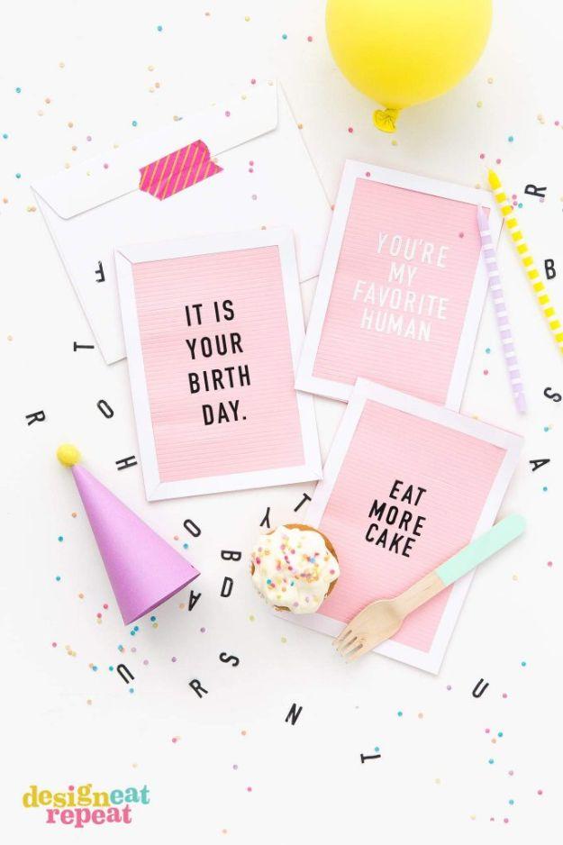 58 Letterboard DIY Birthday Cards