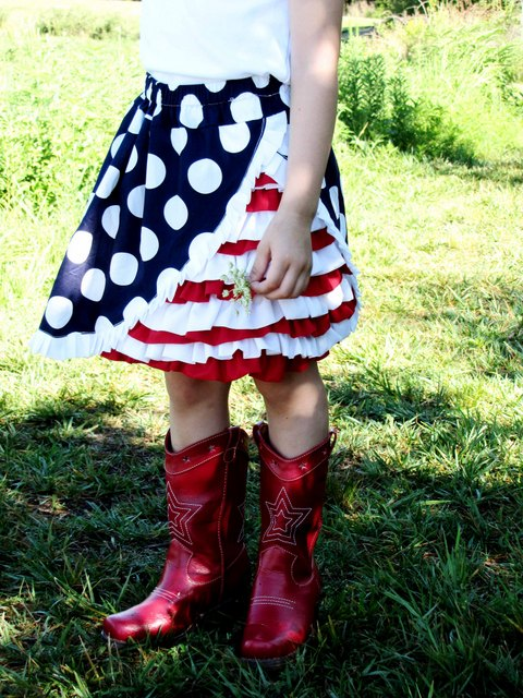 6 4th of July Ruffle Skirt