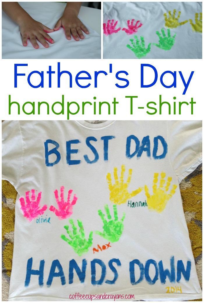 6 DIY Father's Day Handprint Shirt