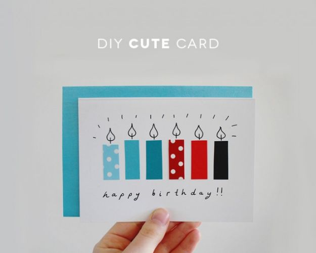 61 DIY Birthday Card From Recycled Papers