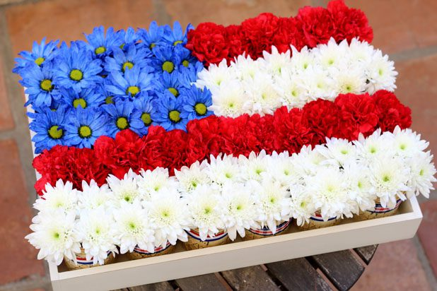 7 Mason Jar Flag Centerpiece