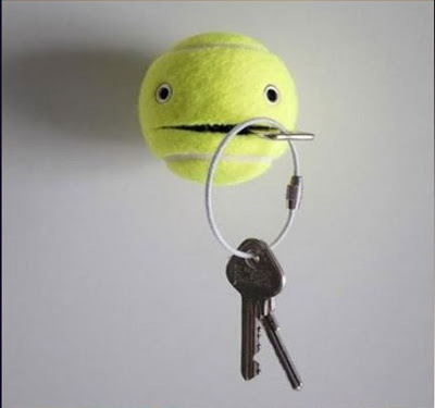 7 Tennis ball as a key holder