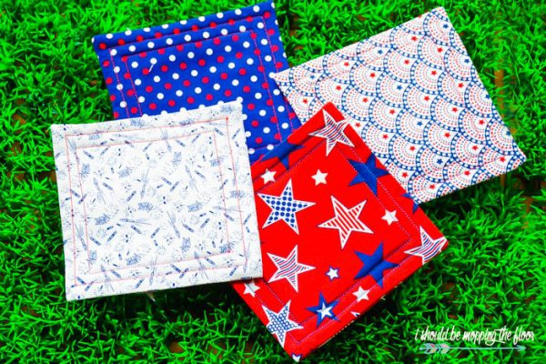 8 Patriotic Quilted DIY Coasters