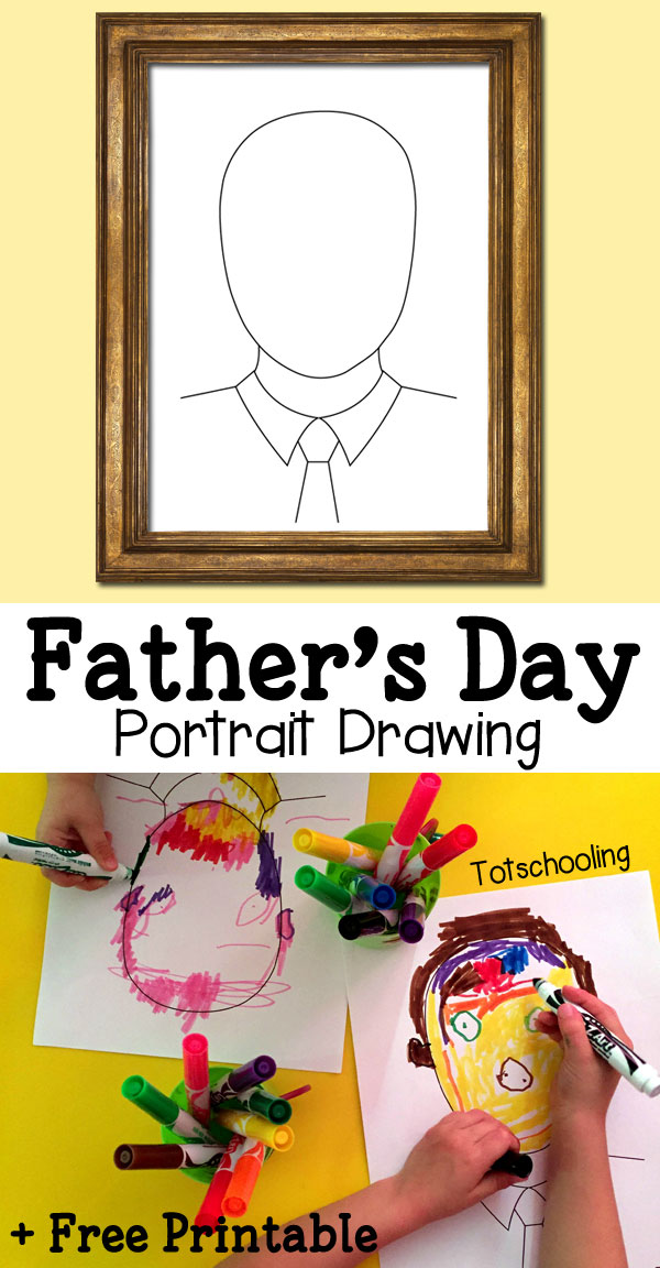 9 Father's Day Portrait Drawing Printable