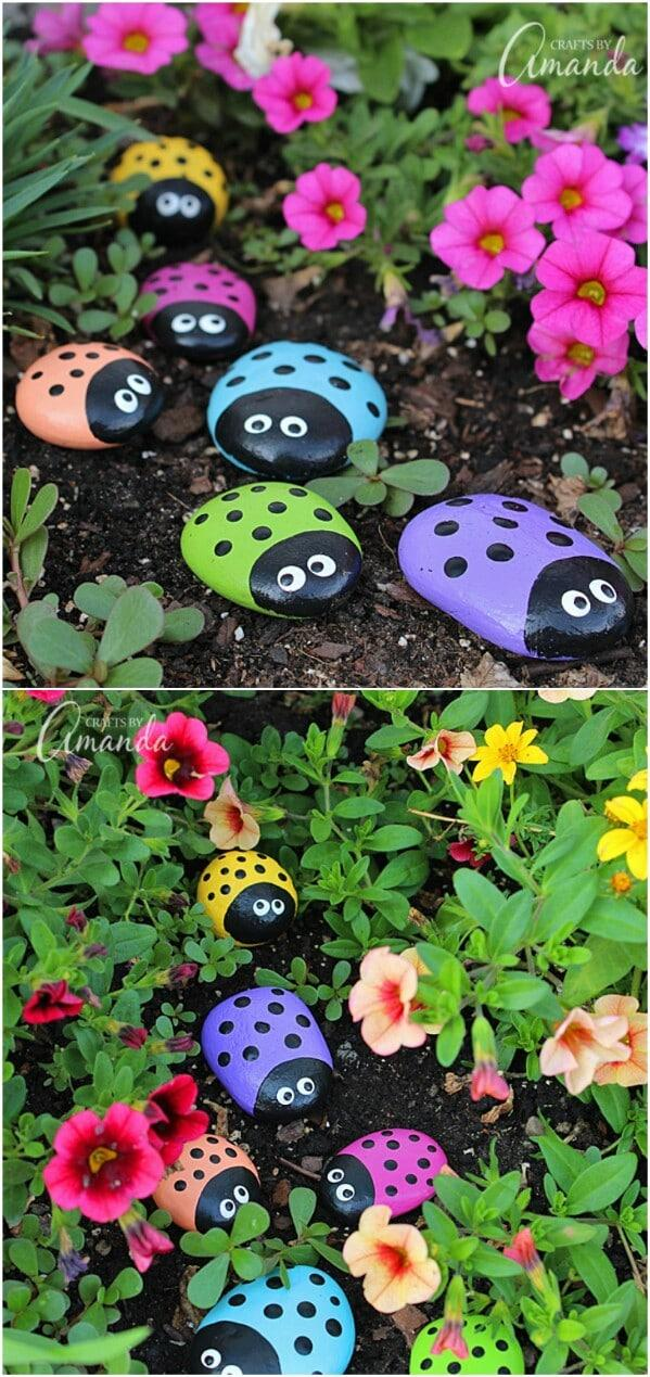 9 Painted Ladybug Rocks