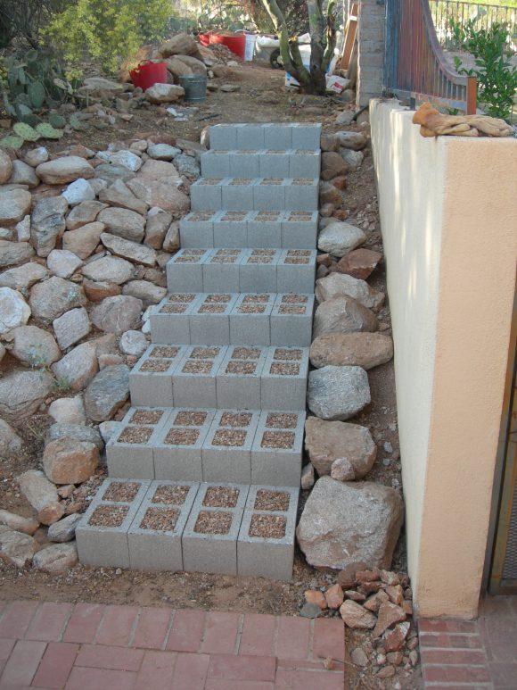 1 Cinder Block Stairs