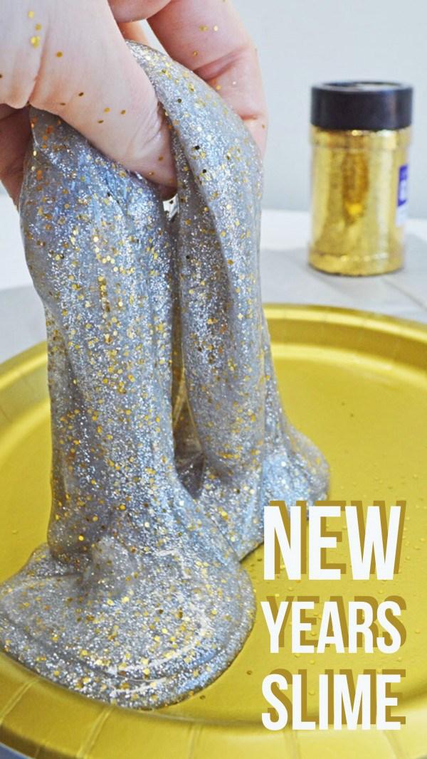 1 DIY New Years Eve Glitter Slime