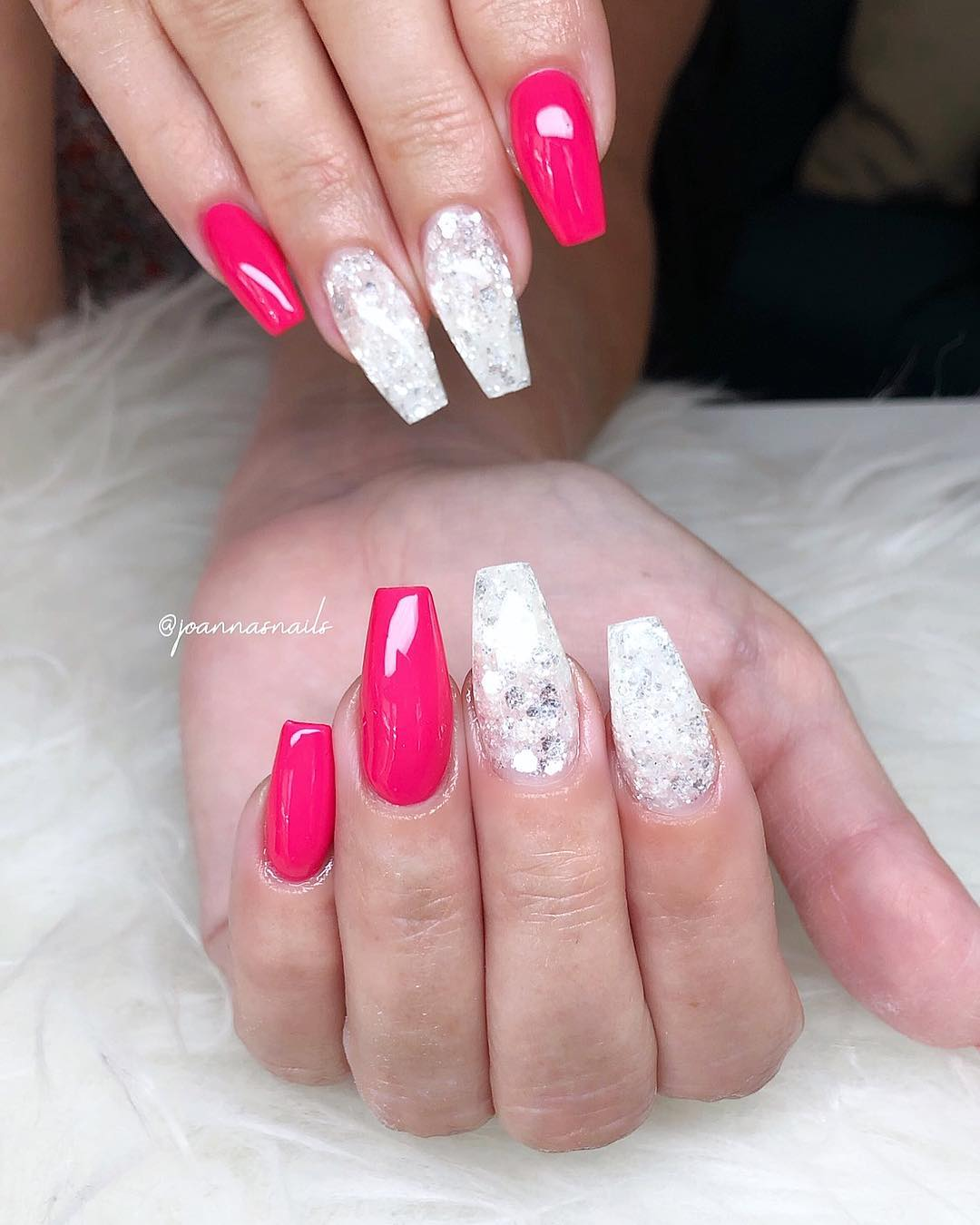 1 Pink Coffin Nail Designs