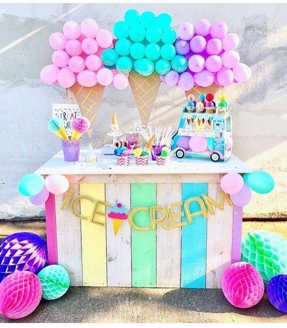 10 Ice Cream Themed Birthday Party Decor Ideas
