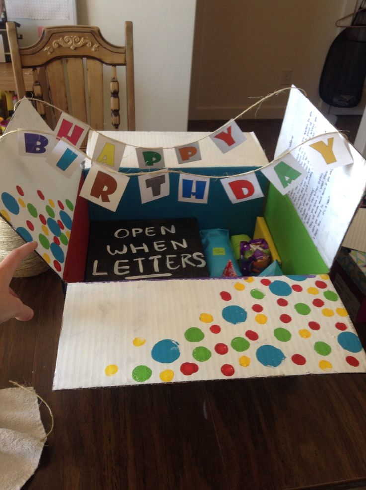 11 DIY Happy Birthday Banner Box