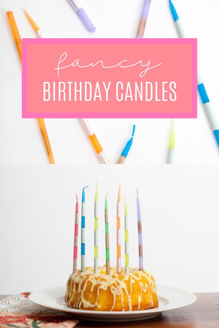 11 DIY Super Fancy Striped Birthday Candles