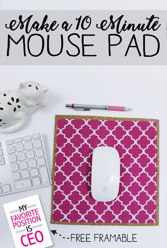 11 How to Make a Custom 10 Minute DIY Mouse Pad