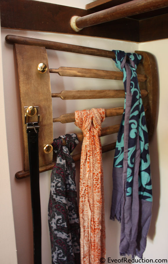 11 Upcycle a Chair into a Scarf Rack