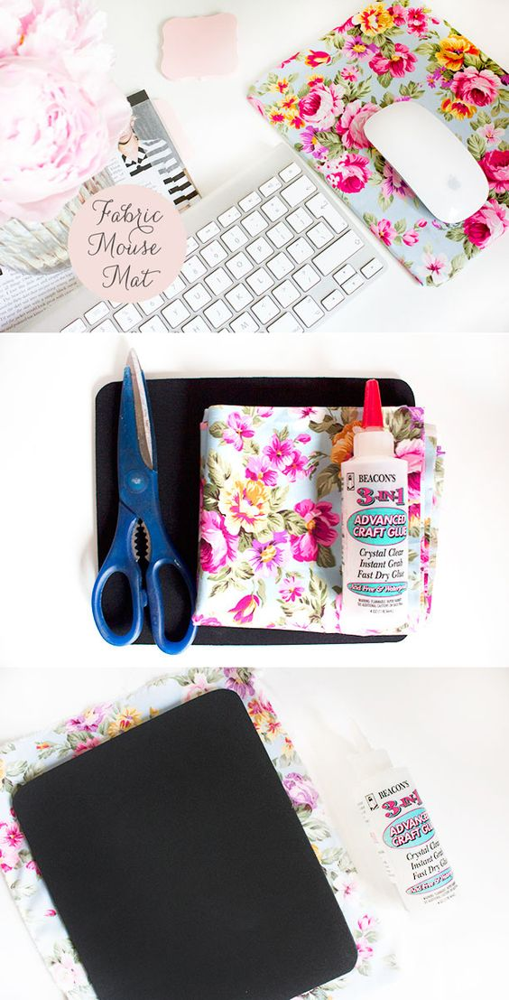 12 DIY Fabric Mouse Mat