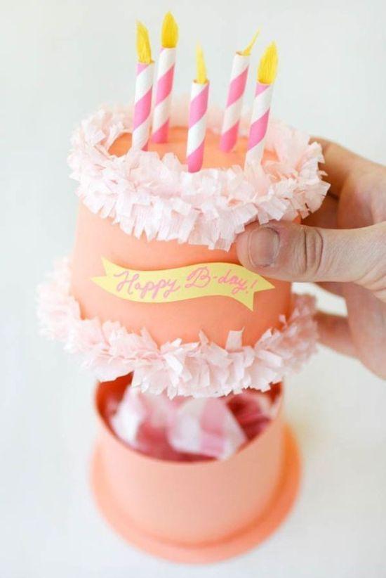 12 DIY Happy Birthday cake box