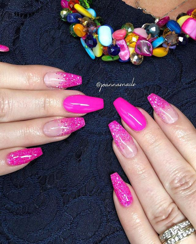 12 Pink Coffin Nail Designs