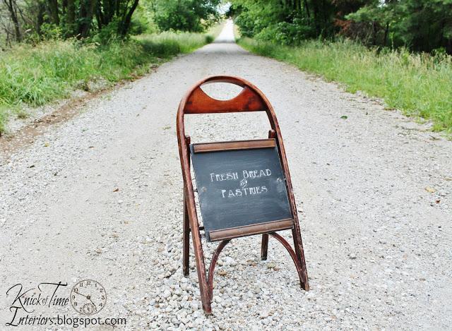 12 Sidewalk Chalkboard from Folding Chair