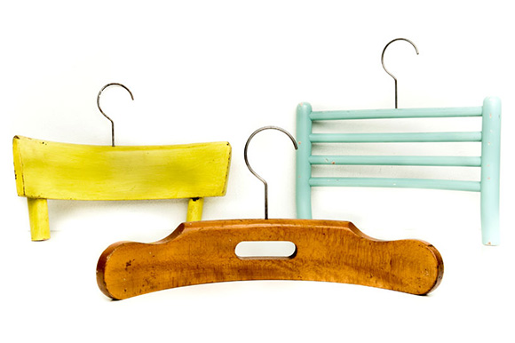 13 Make Hangers From Broken Chairs
