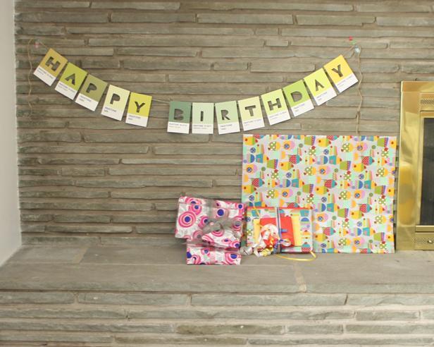 13 Pantone Color Postcard Birthday Banner