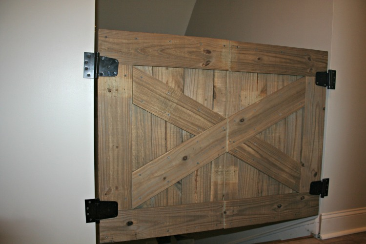 14 DIY Baby Gate with a Rustic Flair