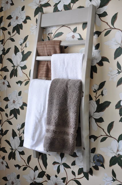 14 Towel Rack from Back of a Chair