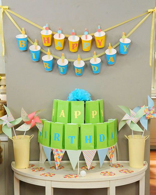 15 Party Cup Birthday Banner