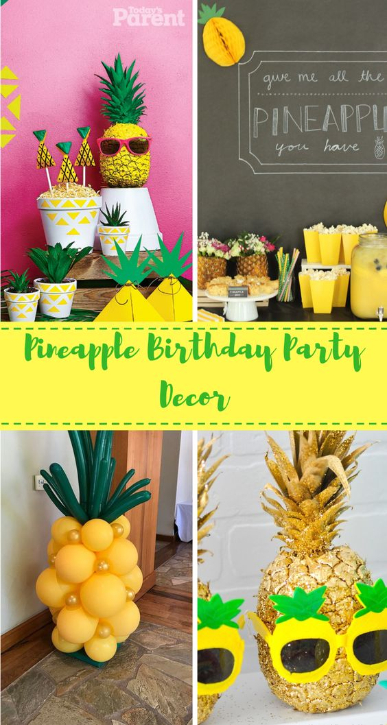 15 Pineapple birthday decorations