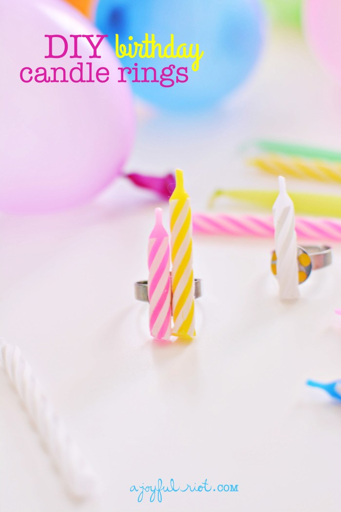 16 DIY Birthday Candle Rings