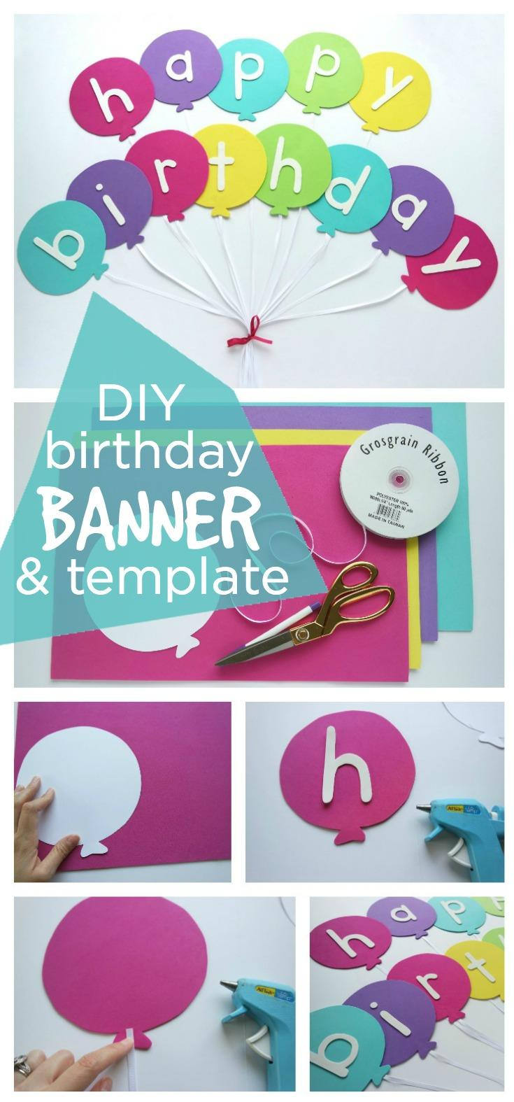 16 Happy Birthday Banner DIY Template