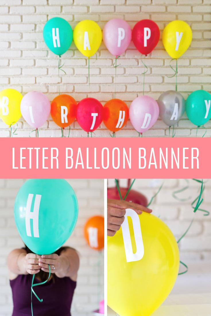17 DIY Letter Decal Balloon Banner
