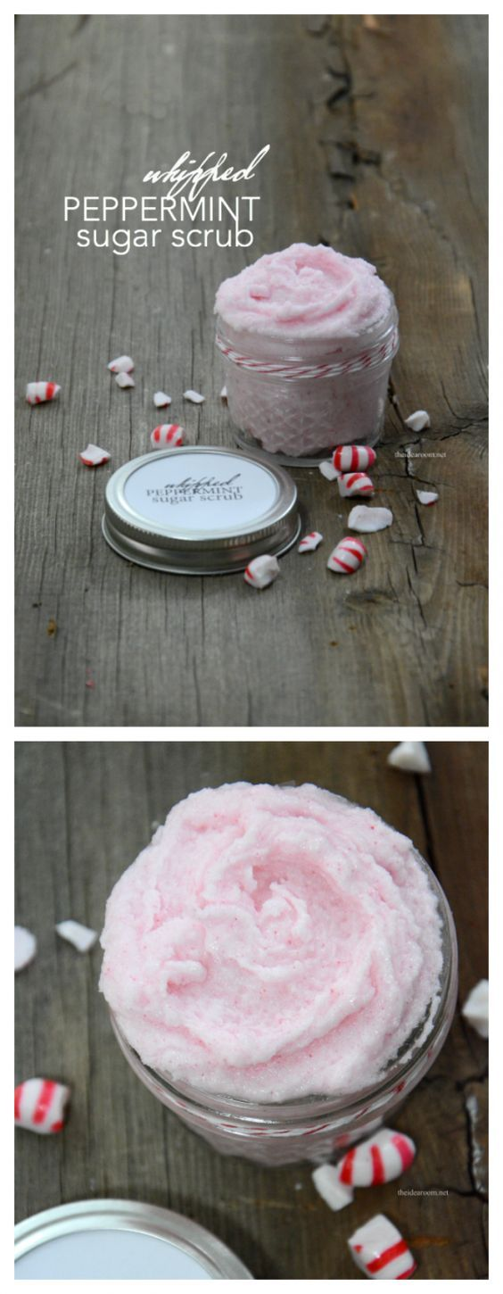 17 Whipped Peppermint Sugar Scrub