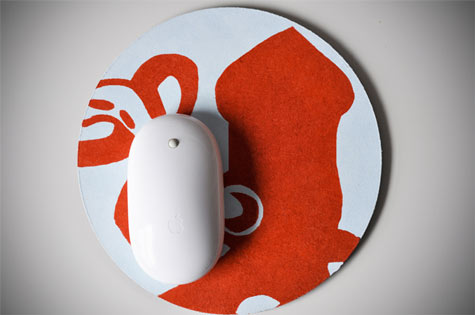 17 hand printed mouse pad from manmade