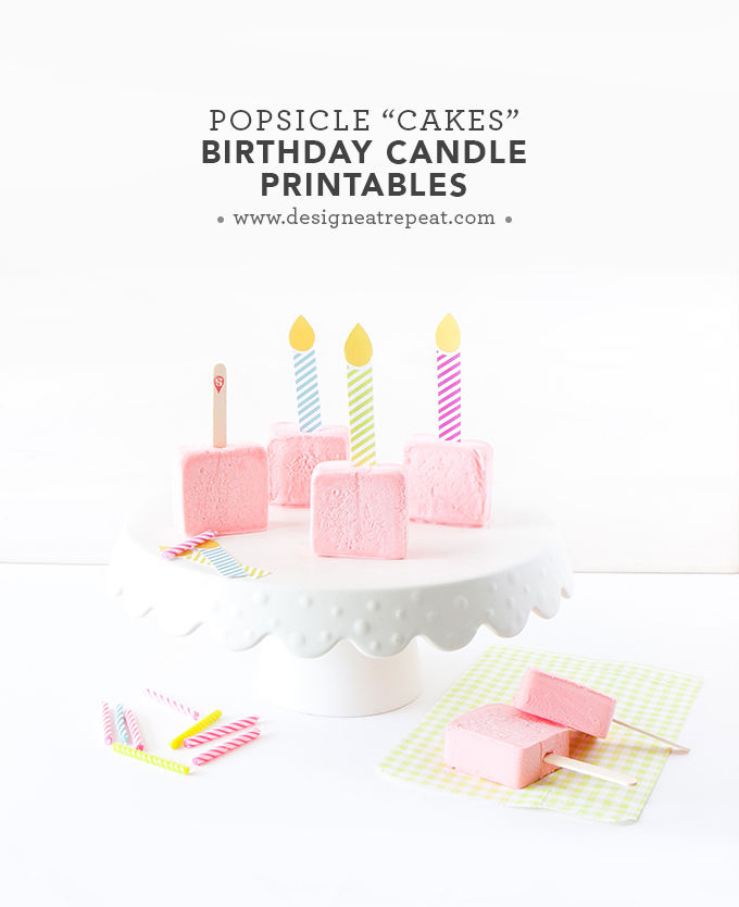 18 DIY Birthday Candle Printables