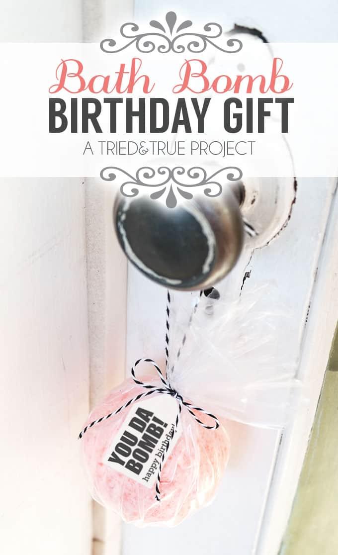 2 Bath Bomb Easy Birthday Gifts