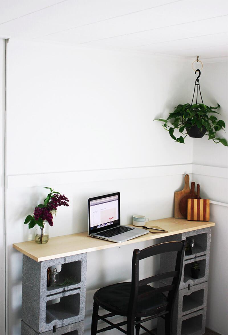2 Cinder Block Student Desk