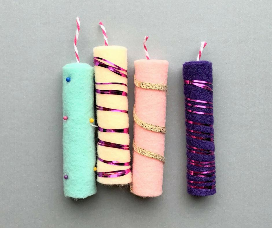 2 DIY Birthday Candle Gift Toppers