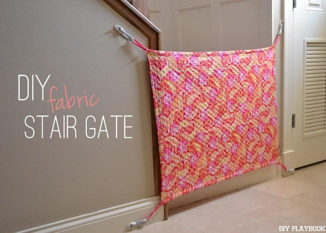 2 DIY Fabric Stair Gate