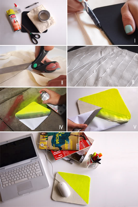 20 DIY NEON CANVAS MOUSE PAD