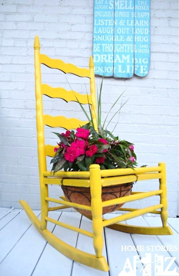20 Repurposed Chair Planter