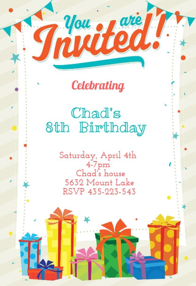 20 You Are Invited - Birthday Invitation