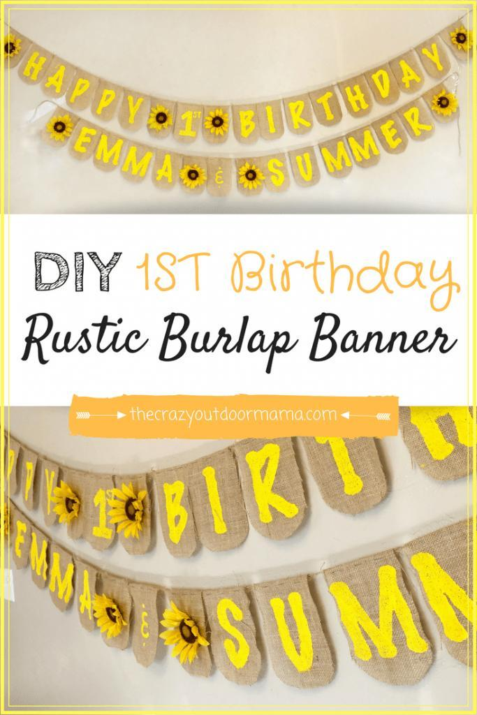 22 DIY Beautiful Homemade Birthday Banner