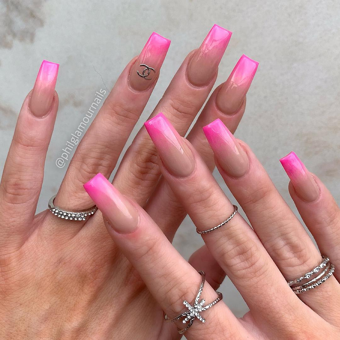 22 Pink Coffin Nail Designs