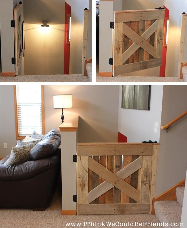 23 DIY Palette Wood Baby & Pet Gate